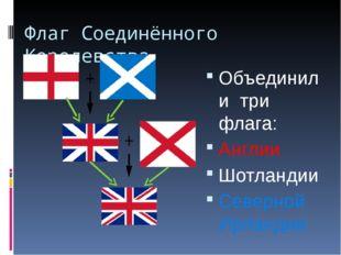 Флаг Соединённого Королевства Объединили три флага: Англии Шотландии Северной