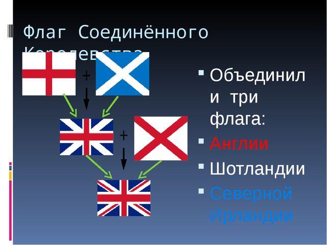 Флаг Соединённого Королевства Объединили три флага: Англии Шотландии Северной...