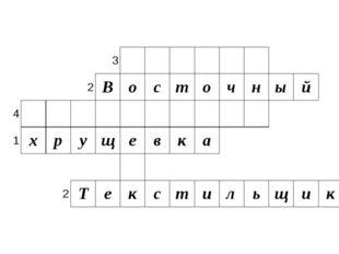 3 2 В о с т о ч н ы й 4 1 х р у щ е в к а 2 Т е к с т и л ь щ и к