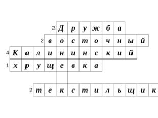 3 Д р у ж б а 2 в о с т о ч н ы й 4 К а л и н и н с к и й 1 х р у щ е в к а