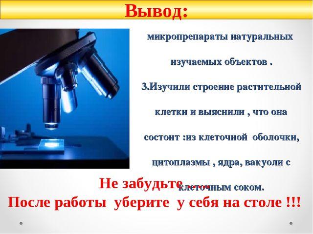 1.Получили первые навыки работы с микроскопом (умеем и знаем как настраивать...