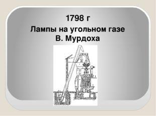 1798 г Лампы на угольном газе В. Мурдоха