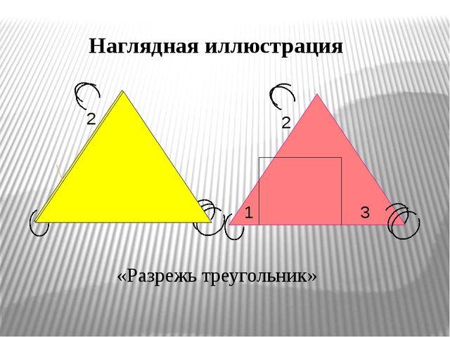 1 3 2 3 1 2 «Разрежь треугольник» Наглядная иллюстрация