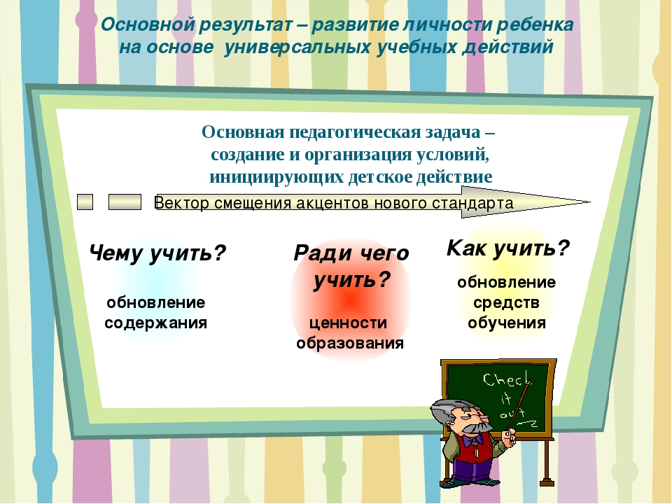 Основной результат – развитие личности ребенка на основе универсальных учебны...
