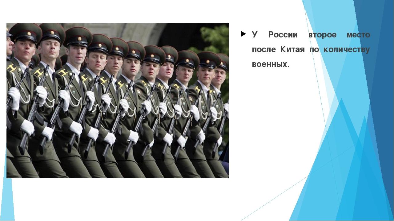У России второе место после Китая по количеству военных.