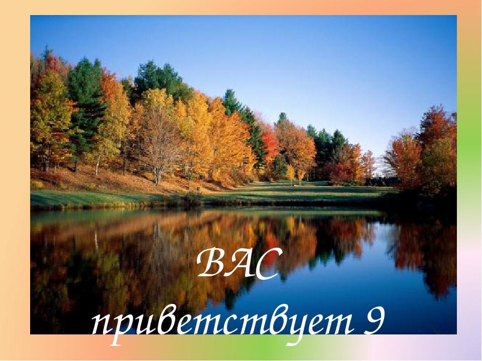 ВАС приветствует 9 «Б»