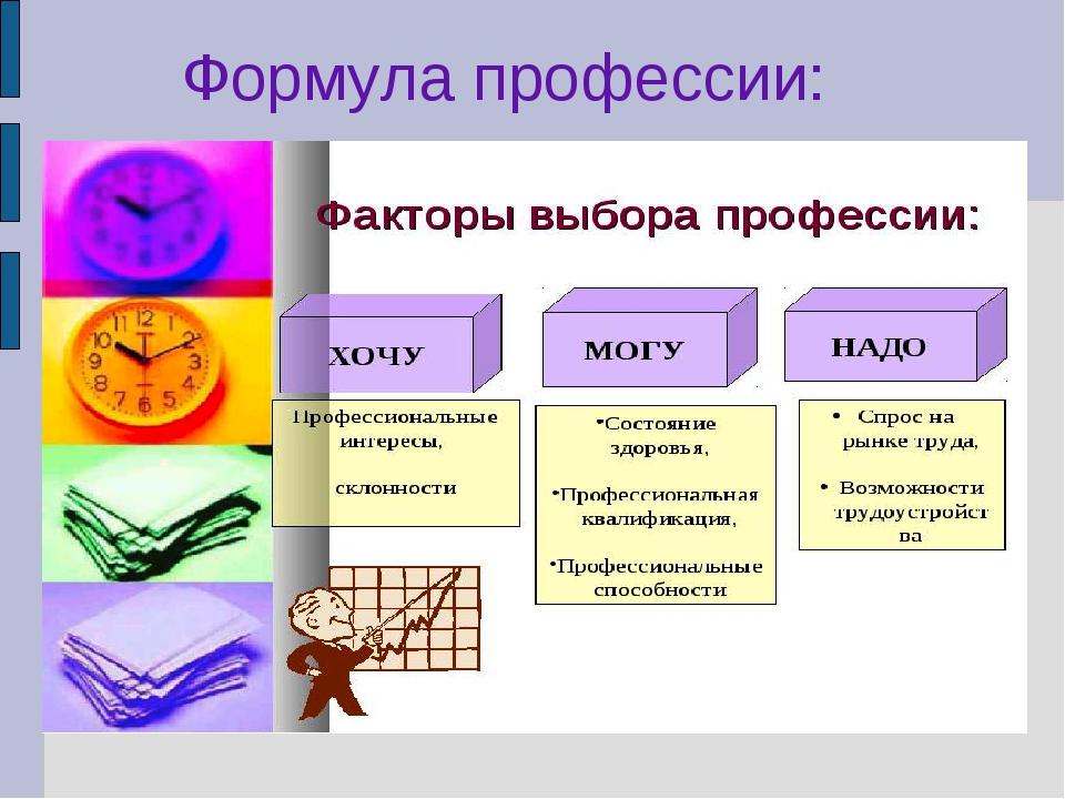 Формула профессии: