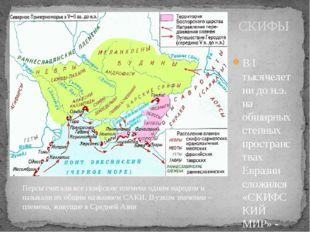 В I тысячелетии до н.э. на обширных степных пространствах Евразии сложился «С