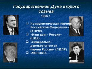 Государственная Дума второго созыва 1995 г Коммунистическая партия Российской