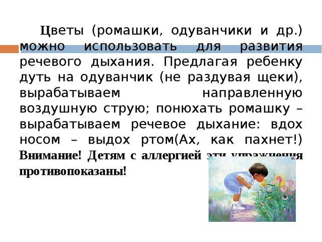 Цветы (ромашки, одуванчики и др.) можно использовать для развития речевого д...