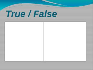 True / False Card1 1.Children call their parents by names 2.The members of th