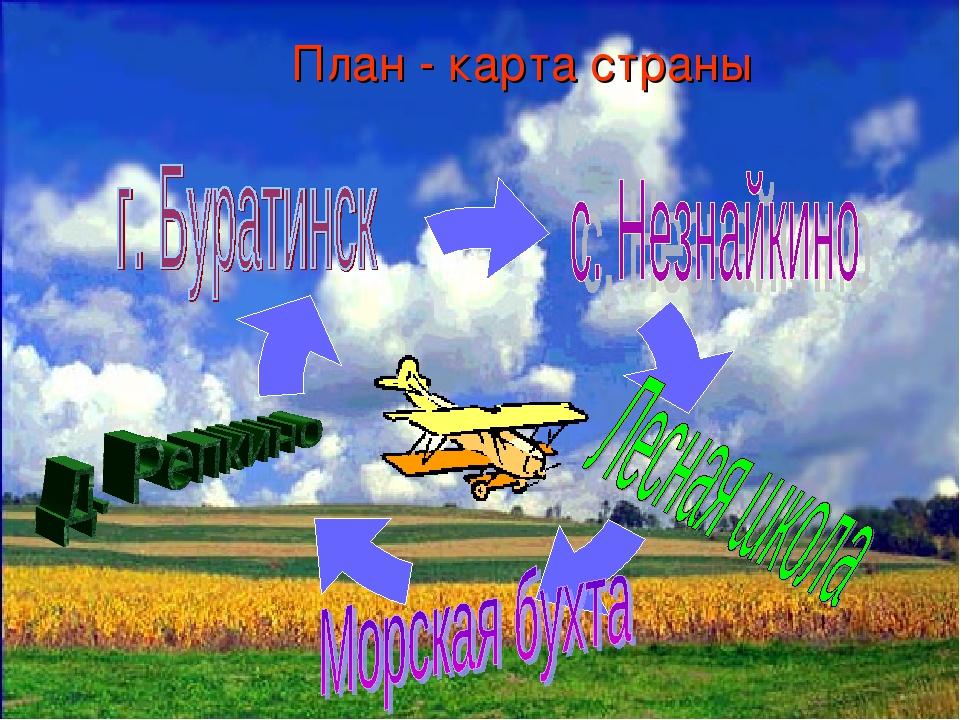 План - карта страны