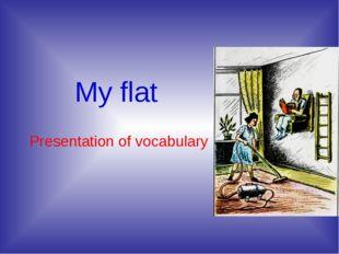 My flat Presentation of vocabulary
