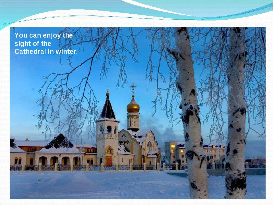 You can enjoy the sight of the Cathedral in winter.
