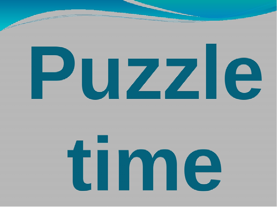 Puzzle time