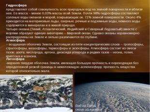 Гидросфера представляет собой совокупность всех природных вод на земной повер