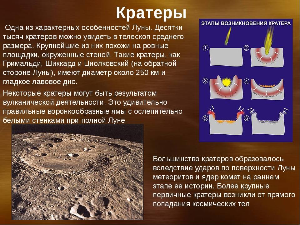 Одна из характерных особенностей Луны. Десятки тысяч кратеров можно увидеть...