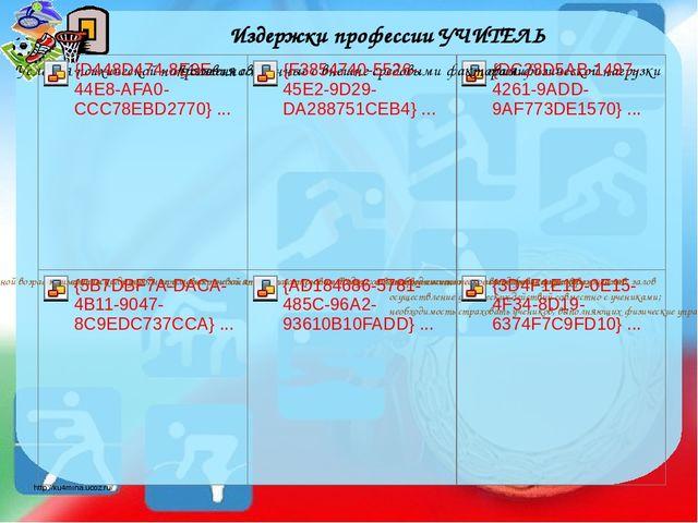 Издержки профессии УЧИТЕЛЬ http://ku4mina.ucoz.ru/