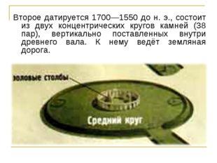 Второе датируется 1700—1550 до н. э., состоит из двух концентрических кругов