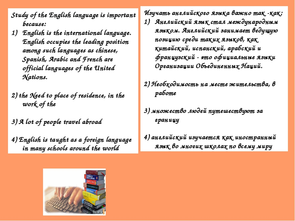 Study of the English language is important because: English is the internatio...