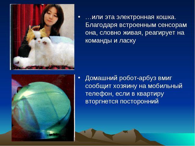 …или эта электронная кошка. Благодаря встроенным сенсорам она, словно живая,...