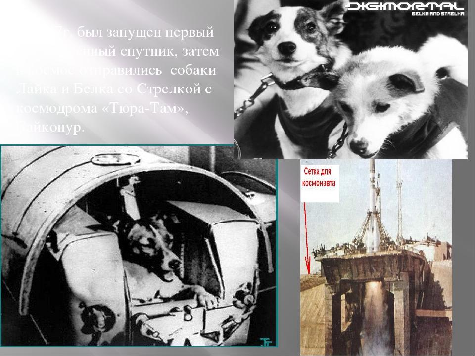 .В 1957г. был запущен первый искусственный спутник, затем в космос отправилис...