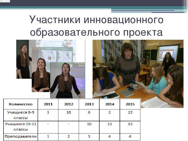 Участники инновационного образовательного проекта