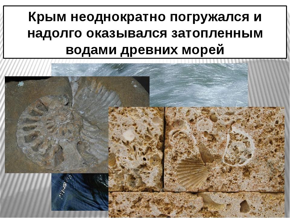Крым неоднократно погружался и надолго оказывался затопленным водами древних...