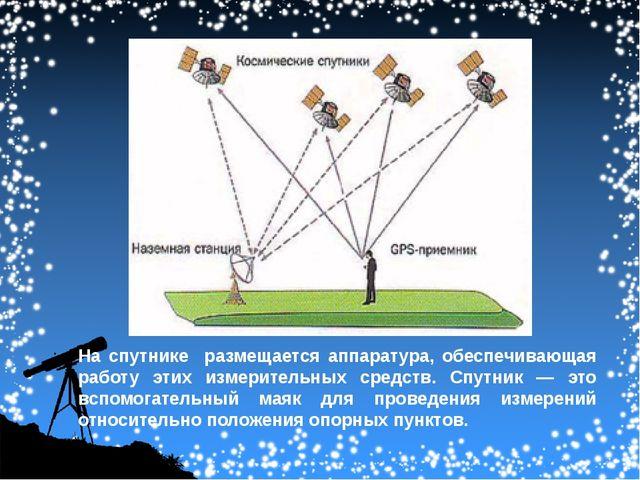 На спутнике размещается аппаратура, обеспечивающая работу этих измерительных...