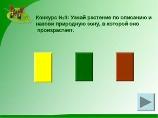 Конкурс №3: Узнай растение по описанию и назови природную зону, в которой оно
