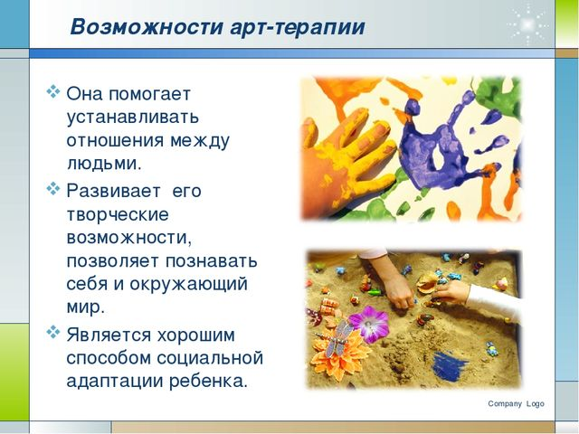 Возможности арт-терапии Она помогает устанавливать отношения между людьми. Ра...