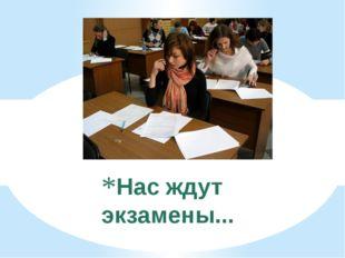 Нас ждут экзамены...