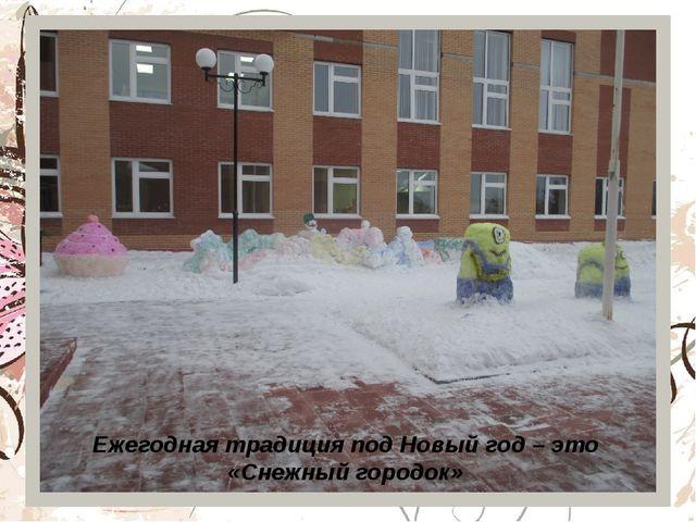 Ежегодная традиция под Новый год – это «Снежный городок»