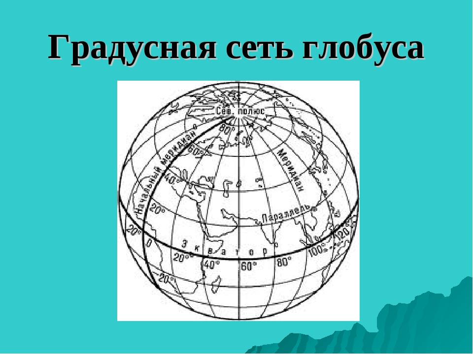 Градусная сеть глобуса
