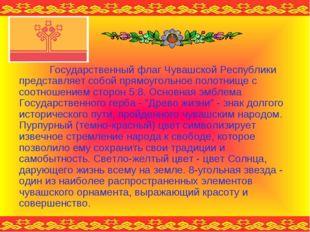 Государственный флаг Чувашской Республики представляет собой прямоугольное по