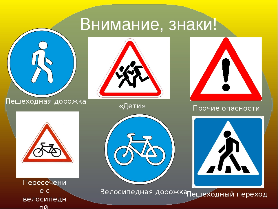 Внимание, знаки! Велосипедная дорожка Пешеходный переход «Дети» Пересечение с...