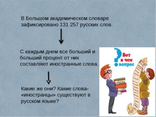 В Большом академическом словаре зафиксировано 131 257 русских слов. С каждым