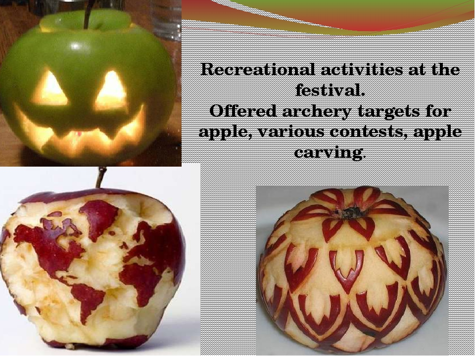 Recreational activities at the festival. Offered archery targets for apple,...
