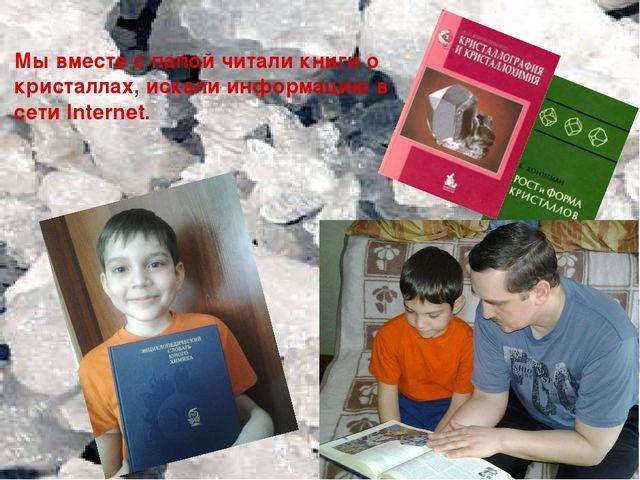 Мы вместе с папой читали книги о кристаллах, искали информацию в сети Internet.