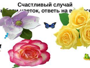 Счастливый случай Выбери цветок, ответь на вопросы Основные различия между жи
