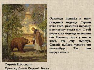 Сергей Ефошкин - Преподобный Сергий. Весна. Однажды пришёл к нему голодный ме