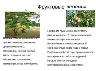 Фруктовые деревья Яблоня. Яблоки применяются при авитаминозе, понижении уров