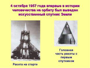 4 октября 1957 года впервые в истории человечества на орбиту был выведен иску