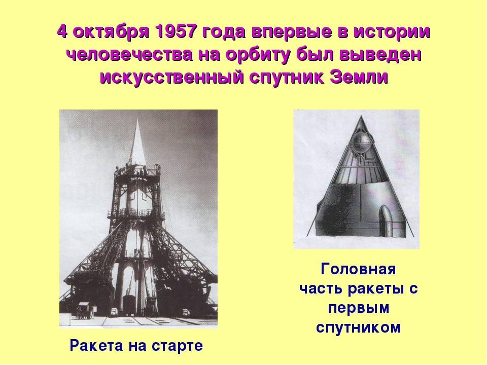 4 октября 1957 года впервые в истории человечества на орбиту был выведен иску...