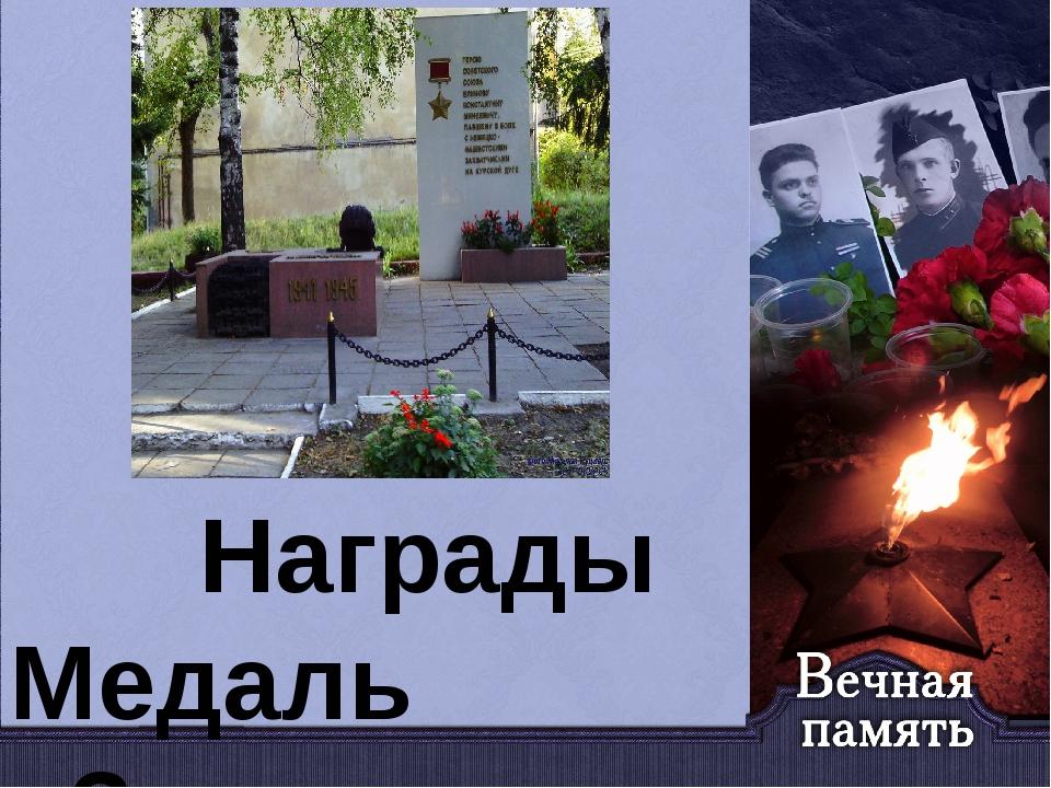 Награды Медаль «Золотая Звезда» (17.04.1943) Орден Ленина (17.04.1943) Орден...