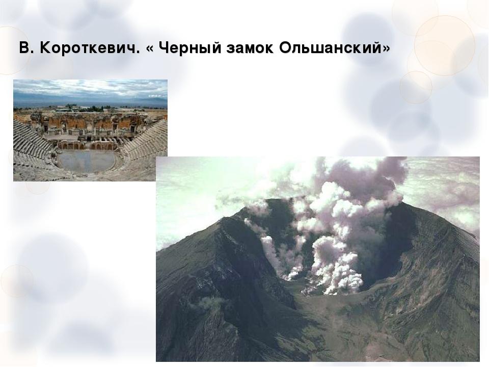 В. Короткевич. « Черный замок Ольшанский»