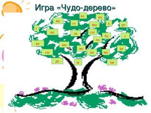 Игра «Чудо-дерево» сы на во до ны з ма ла со ка к па ки ре ло с сос мы ба м н