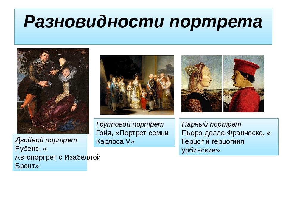 Разновидности портрета Двойной портрет Рубенс, «Автопортрет с Изабеллой Брант...