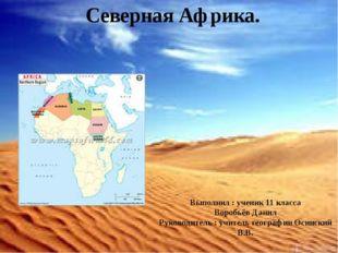 Северная Африка. Выполнил : ученик 11 класса Воробьёв Данил Руководитель : уч
