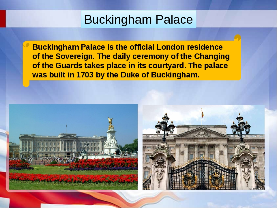 Buckingham Palace is the official London residence of the Sovereign. The dail...